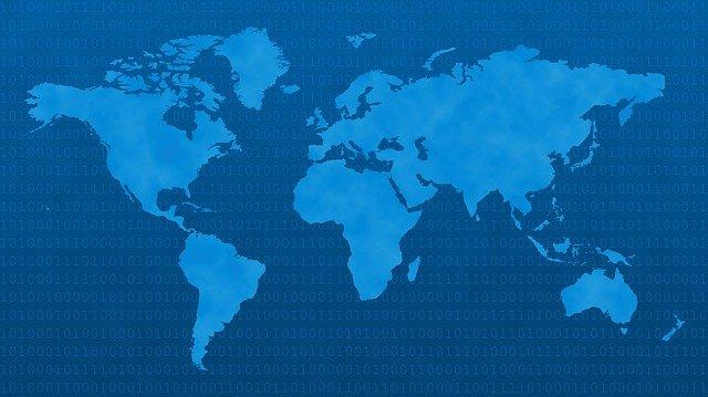 modrá mapa