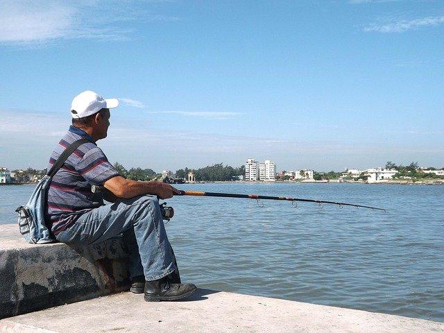rybaření ve městě