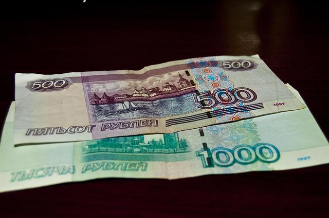 2 ruské bankovky